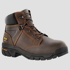 """Mens Timberland PRO Helix 6"""" Alloy Safety Toe Brown Work Boot Size 7-15 865"""