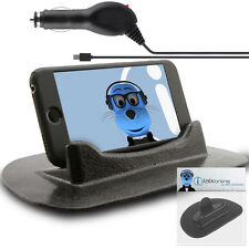Anti-Slip In Car Holder And Micro USB Charger For Motorola Defy MB525