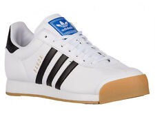 NEW MENS ADIDAS ORIGINALS SAMOA CASUAL SHOES LEATHER TRAINERS WHITE / BLACK