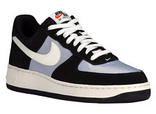 NEW MENS NIKE AIR FORCE 1 LOW BASKETBALL SHOES TRAINERS BLACK / WOLF GREY /