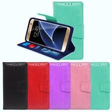 For Samsung Galaxy S7 Wallet TPU Box Case Synthetic Faux Leather Wristlet Cover