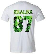 "Wiz Khalifa ""87"" Weed Back Number Tee T-shirt - Khalifa Number T-shirt"
