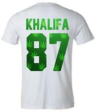 "Rapper Wiz Khalifa ""87"" Weed Back Number Tee T-shirt Khalifa Number T-shirt"