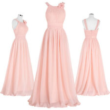 Pink Long Bridesmaid Women Maxi Dresses Prom Party Formal Evening Gowns Wedding