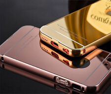 Cover Custodia Bumper In Alluminio Hard Back Case Retro A SPECCHIO iPhone 5s 5