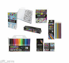 COLOUR THERAPY ADULT COLOURING BOOK ANTI STRESS ART THERAPY COLOUR ZEN SOOTHING