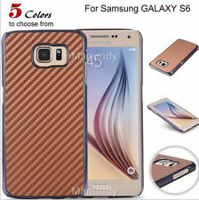 Ultra Thin Premium Carbon Fiber Style Hard Back Case Cover For Samsung Galaxy S6