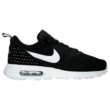 Nike Air Max Tavas Leather Suede Running Shoes Mens Black White