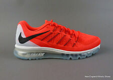 Nike men Air Max 2015 running shoes - Bright Crimson / Black / Summit White