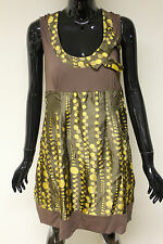 Morgan De Toi womens tunic brown/gold polka dot Rikama party dress RRP £70
