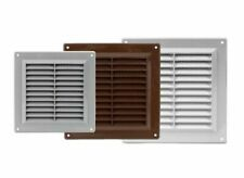 Air Vent Grille Ducting Wall Door Ventilation Cover Grid White Brown Grey Silver