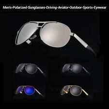 Polarized Sunglasses Men's Retro Vintage Metal Outdoor Drving Eyewear Glasses CR