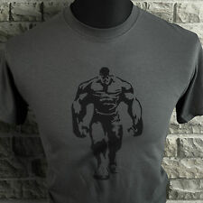 Mens Hulk Style T Shirt Gym Training Cage Workout Bodybuilding Motivational Gry