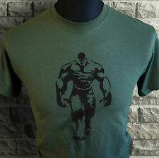 Mens Hulk Style T Shirt Gym Training Cage Workout Bodybuilding Motivational grn