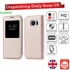 Ultra Slim S View Window Leather Wallet Flip Case Cover For Samsung Galaxy S7