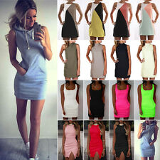 Sexy Women's Summer Casual Sleeveless Evening Party Mini Dress Cocktail Clubwear