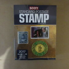 Scott 2017 Worldwide Stamp Catalogue Volume 1 United States & Countries A-B