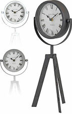 Vintage Retro Clock Lovely Antique Style Table Mantelpiece Clock Black White