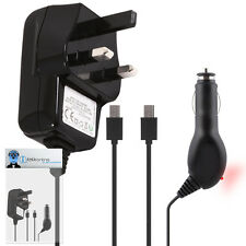 Car And Mains Charger 1000 mAh UK 3 Pin For Nokia Asha 302