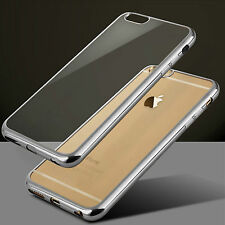 Luxury Clear Electroplating TPU Silicone Gel Soft Case Cover For Apple iPhone
