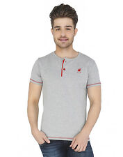 Paani Puri Clothing Embroidered Grey Modal Men's T-Shirt _ 119