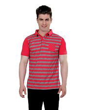 Paani Puri Clothing Printed Red Cotton Blended Men's T-Shirt _ 247