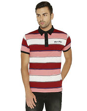 Paani Puri Clothing Embroidered Red Cotton Blended Men's T-Shirt _ 287