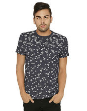 Paani Puri Clothing Printed Navy Blue Cotton Blended Men's T-Shirt _ 58