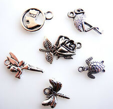 STUNNING CHARMS DOGS FLAMINGO ROSE TURTLE DRAGONFLY FAIRY - FAST FREE SHIPPING
