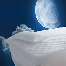 Extra Deep Anti Allergy Luxury Quilted Mattress Protector Fitted Bed Sheet Cover