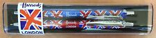 Harrods Union Jack Pen & Pencil Set in presentation case BNWT-ideal gift