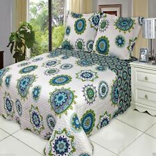 Julia Cool Oversized Microfiber Coverlet Quilt Set with Shams - ALL SIZES