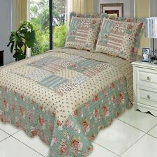 Oversized Annabel Microfiber Coverlet Quilt with Pillow Shams - ALL SIZES