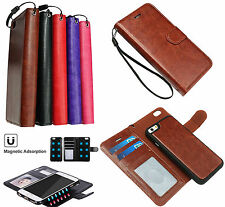 2 In1 Leather Wallet Case With Detachable Magnetic Hard Cover For IPhone 6S/ 6S+
