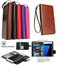 2 In1 Leather Wallet Case With Detachable Magnetic Hard Cover For Galaxy S7 Edge