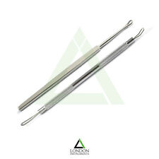 Set Of 2  Blackhead Comedone Extractor+Ear Cleaner Tool Stainless Beauty Product