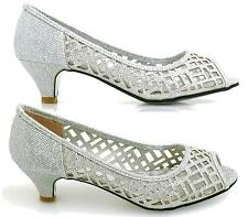 LADIES FLAT LOW HEEL CASUAL DIAMANTE SHIMMER PEEP TOE SUMMER SANDALS SLIP ON SHO