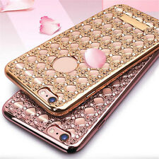 Bling Shockproof Rubber Diamond Soft Silicon Case Cover for iPhone 5S 6 6S Plus