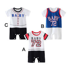 Baby Romper Jumpsuit Bodysuit Casual Printed Tracksuit Outfits Toddler Clothes