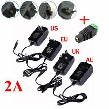 AC 100-240V Converter Adapter to DC 12V 2A Power Supply For 3528 5050 Led Strip