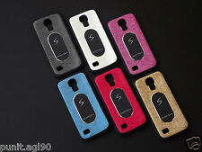 Dual Tone Soft Rubber Back Cover Case Metal Plate For Samsung Galaxy S4 mini