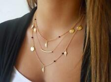 Bohemian Pendant Gold Chain Choker Chunky Statement Bib Necklace Jewelry Charm