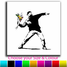 Flower Thrower Banksy Single Canvas Wall Art Picture Print 2