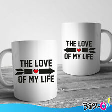"""Coppia di Tazze Love You and Me """"The Love Of My Life"""""""