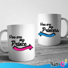 """Coppia Di Tazze Love You And Me """"You Are My Prince"""""""