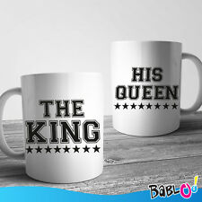 """Coppia Di Tazze Love You And Me """"The king His Queen"""""""