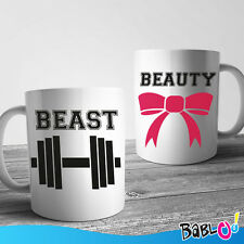 """Coppia Di Tazze Love You And Me """"Beast Beauty"""""""