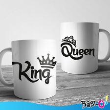 """Coppia Di Tazze Love You And Me """"King Queen"""""""