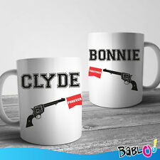 "Coppia Di Tazze Love You And Me ""Bonnie and Clyde"""