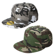Adjustable Cotton Hip Hop Baseball Cap Trucker Hat Camouflage Curved Visor Hat